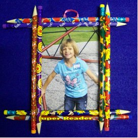 craft ideas for picture frames easy pencil picture frame favecrafts 6221