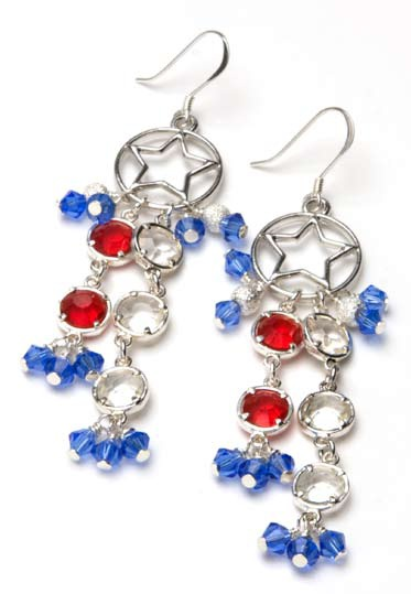 4th of july earrings fireworks earrings from cousin corp favecrafts 1894